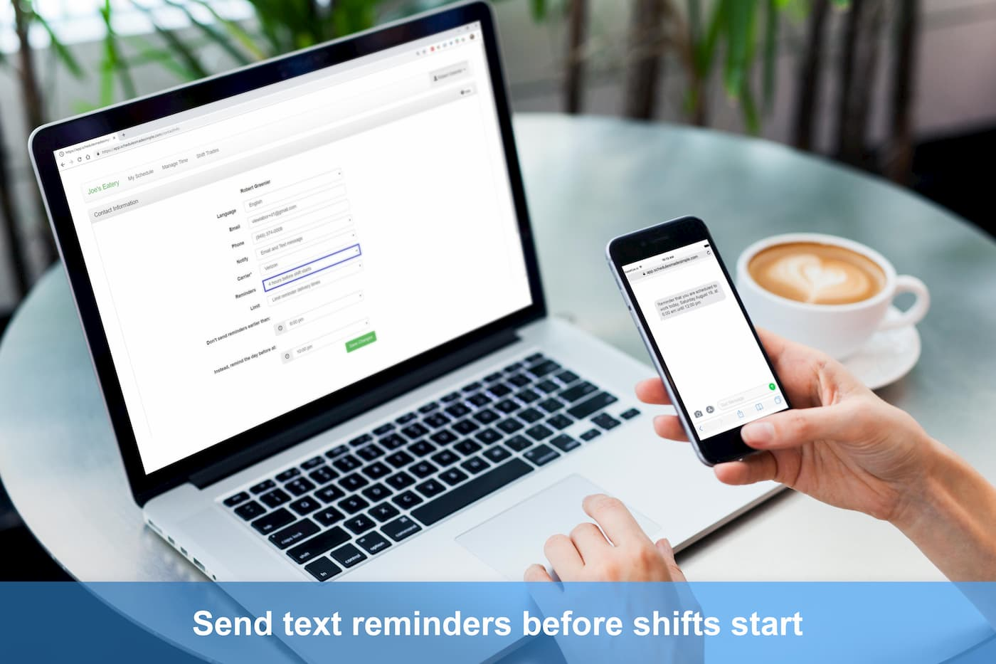 Text message reminders picture
